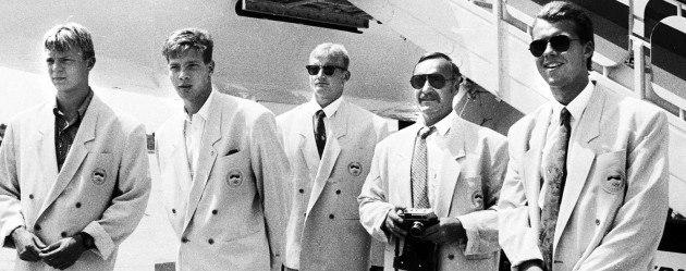 1992. aasta Barcelona Olümpiamängudel - Indrek Sei, Marko Pachel, Aldo Suurväli, Tiit Reiter ja Ilmar Ojase