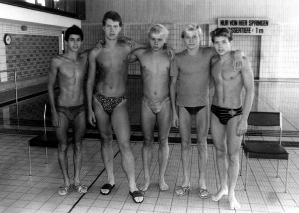 Ilmar Ojase treeningkaaslastega (vasakult teine)